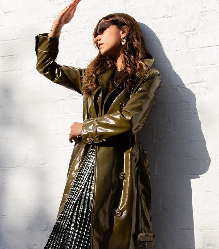 Topshop vinyl trench coat: