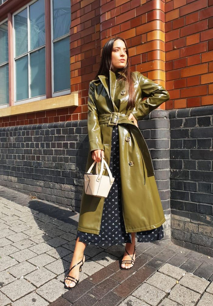 Topshop vinyl trench coat: