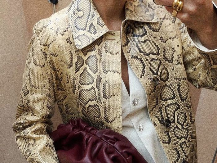 Snake Print Coat