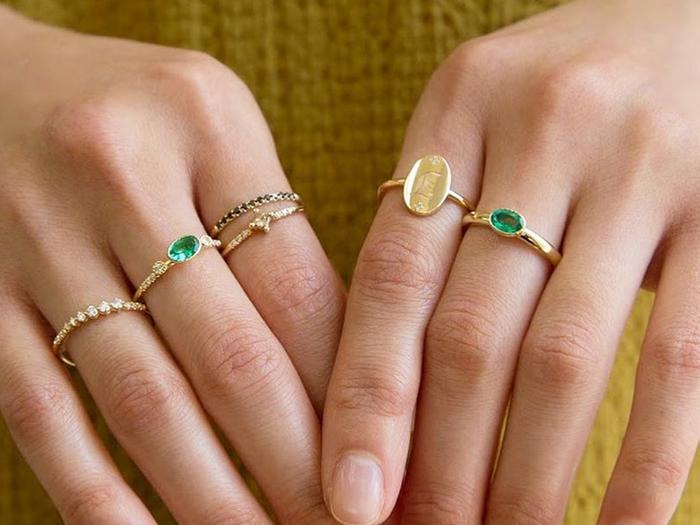 Birthstone or Diamond rings