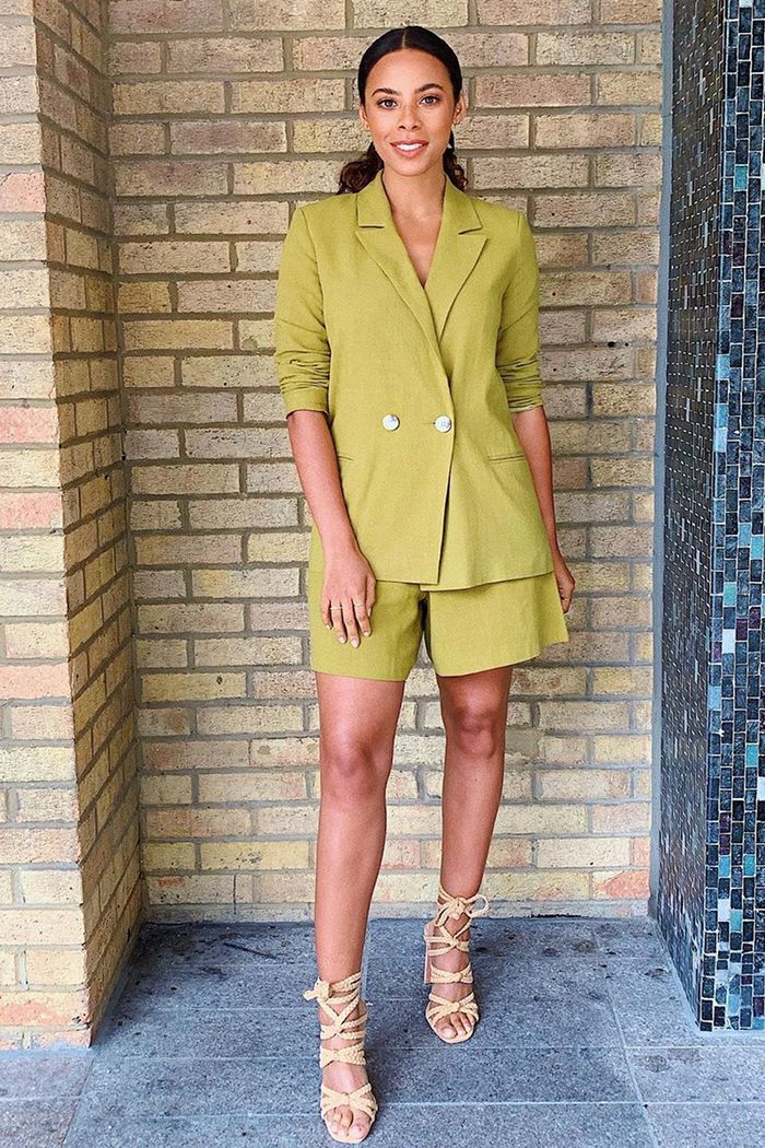 Rochelle Humes Style: @rochellehumes in an ASOS short suit