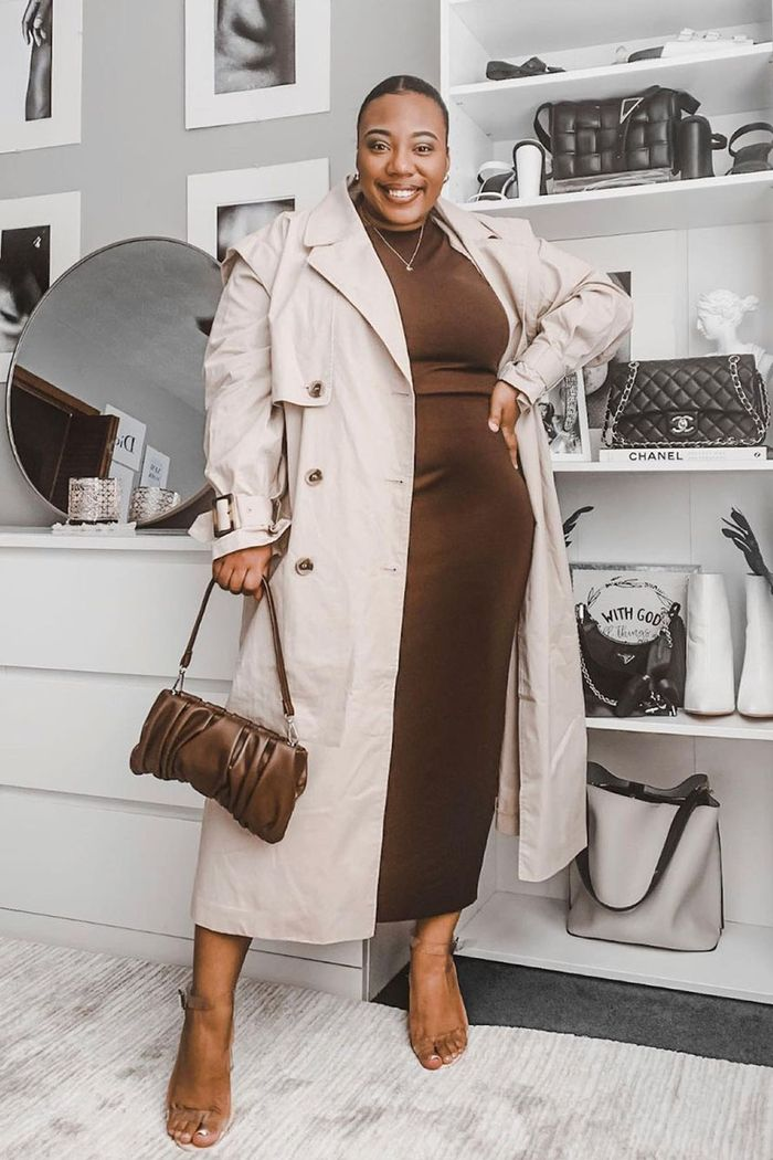 brown dress outfits for fall