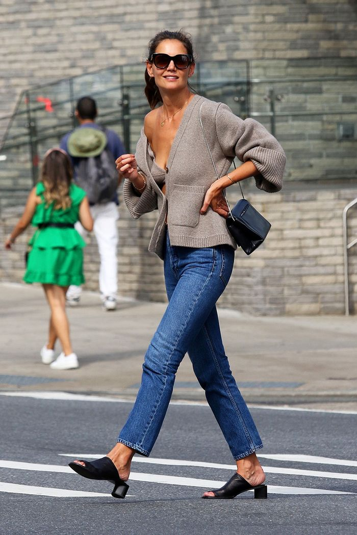 Katie Holmes fall outfit