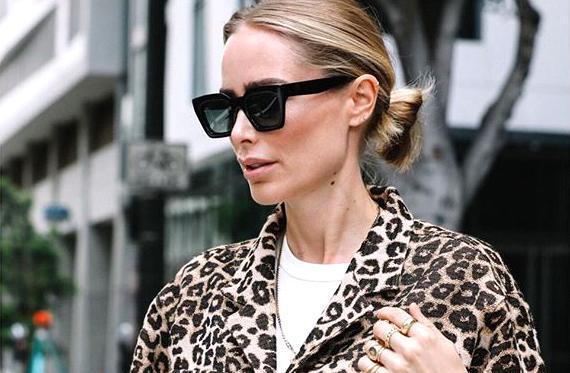 Anine Bing Leopard Jacket Street Style