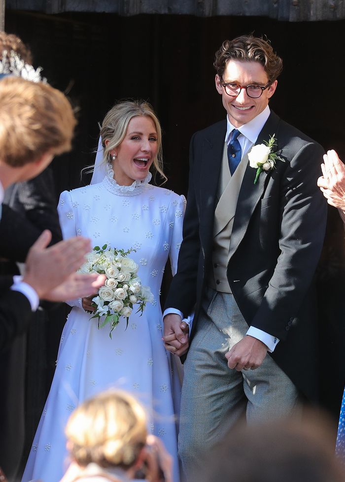 Ellie Goulding wedding: wearing a bespoke Chloé dress with embroidered stars and daisies