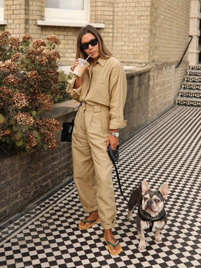 Massimo Dutti: Hannah Crosskey wearing a boilersuit by the brand