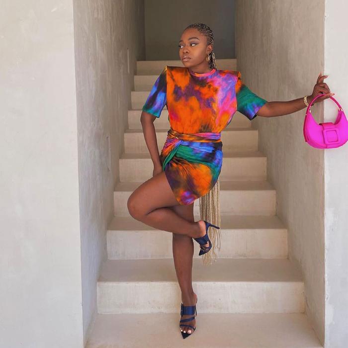 Fisayo Longe Attico Tie-Dye Outfit