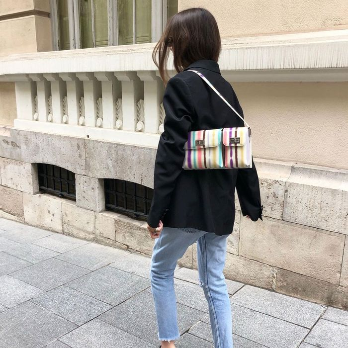 By Far Striped Billy Bag Instagram