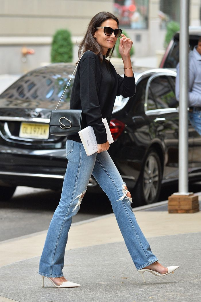 FYI: Katie Holmes's $50 Zara Shoes Look Really Good With Jeans
