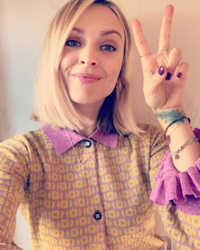 Fearne Cotton Hair: Fearne with straight bob and purple nails