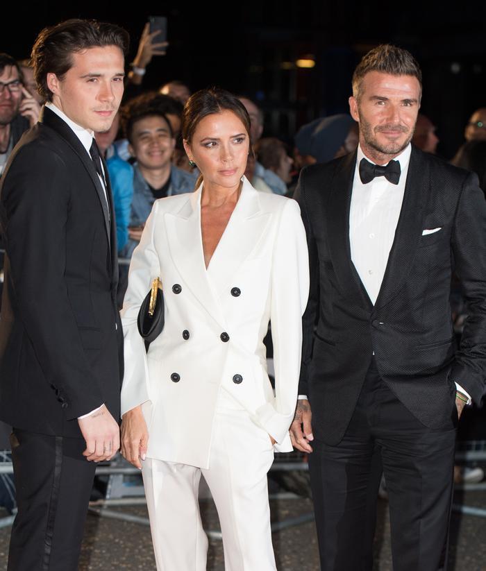 Victoria Beckham GQ Awards: white tuxedo