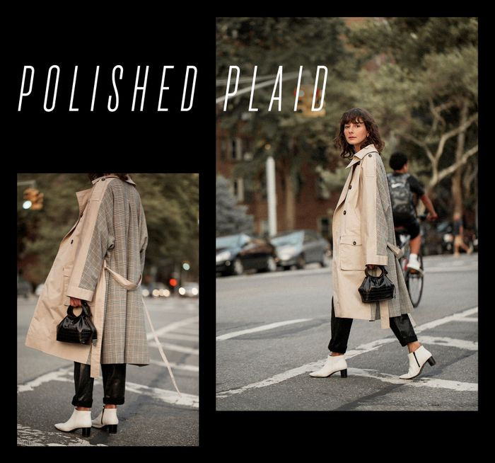 plaid best trench coat alyssainthecity style
