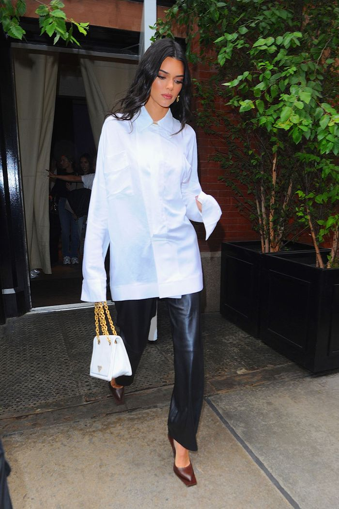 Kendall Jenner leather trend