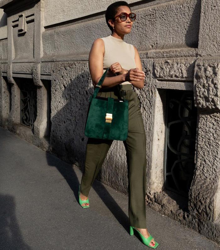 Best designer shoes: Tamum wearing Wandler shoes
