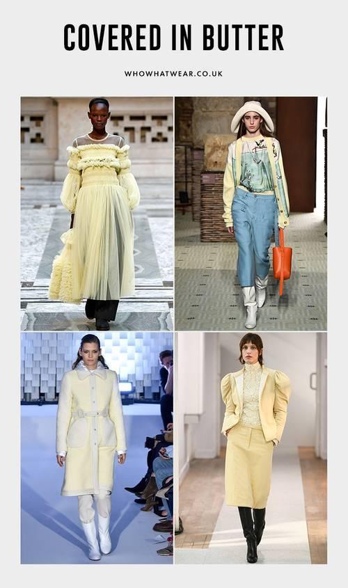 Buttermilk Fashion Trend: The buttermilk trend was evident on the autumn/winter 2019 catwalk