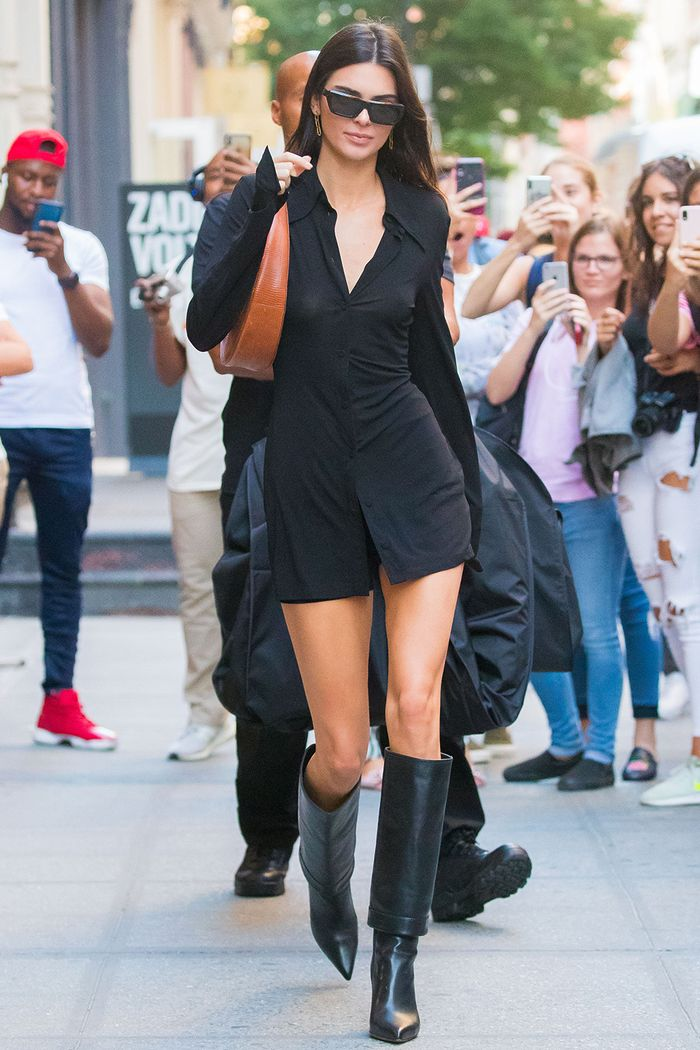 Kendall Jenner knee-high boot trend