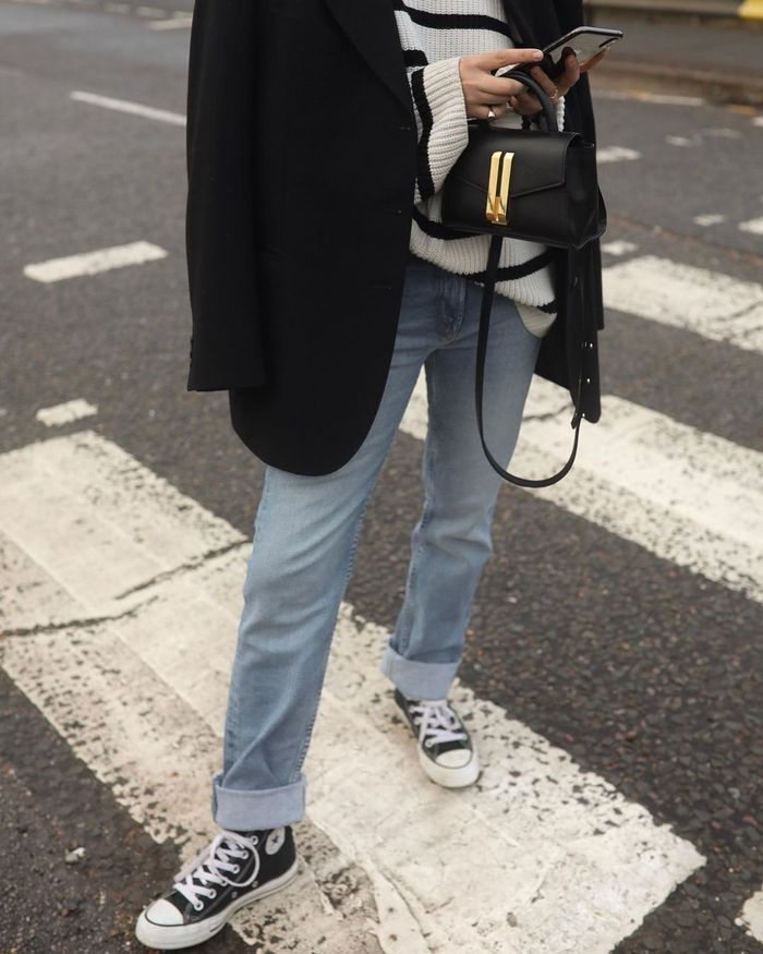 How to wear Converse: Hannah in jeans and a Breton knit