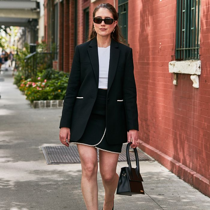 Timeless Fall Fashion Trends Skirt Suit Street Style NYFW