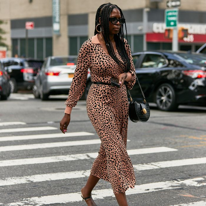 Animal Print Dress Street Style NYFW