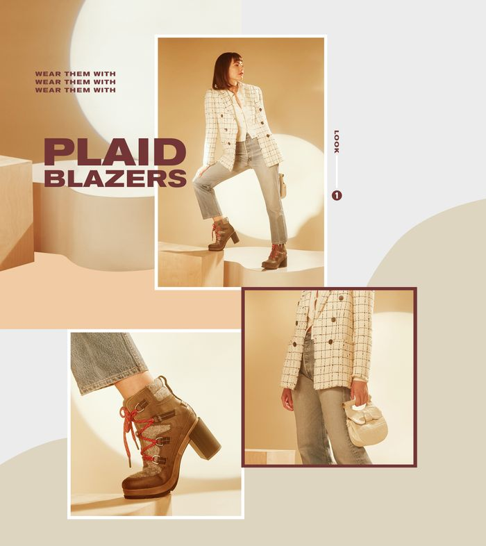plaid blazers for fall