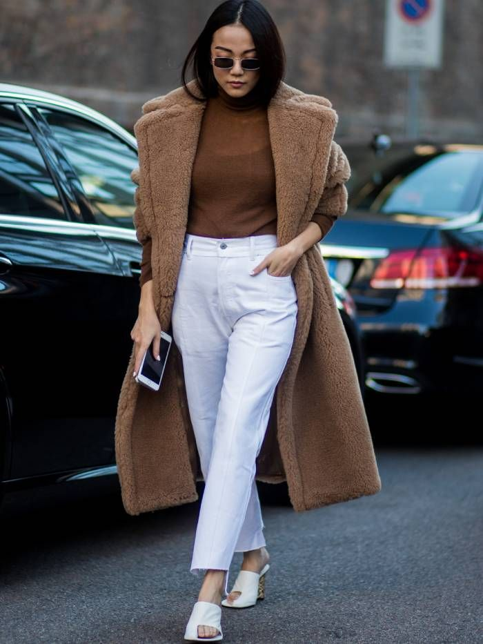 max mara coat: teddy coat on a street styler