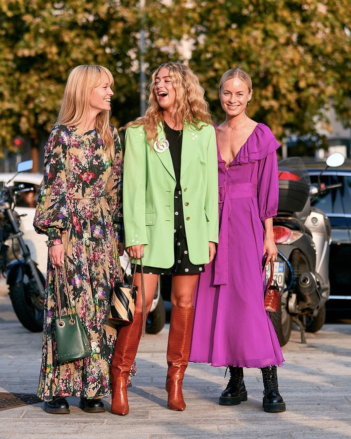 The Best Street Style Shoe Trends Fashion Month 2019: Jeannete Madsen, Emili Sindlev, and Thora Valdimars
