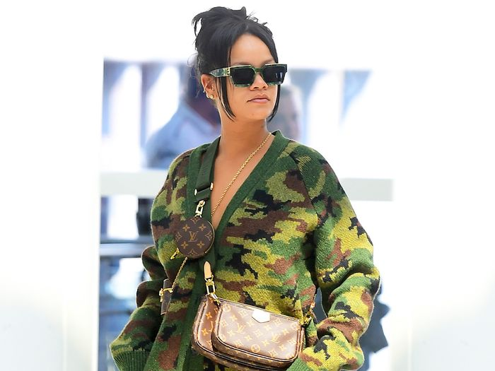 Only Rihanna Can Get Away With Wearing This Pants-less Look to the Airport