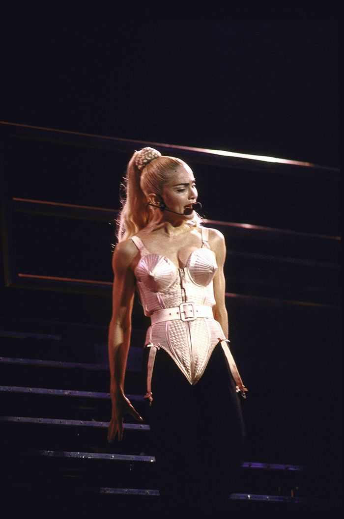 Madonna cone bra bodysuit