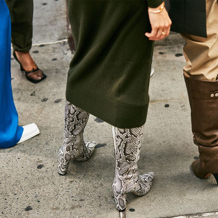 Snake Boots Street Style