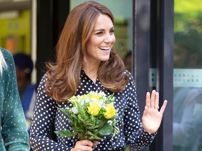 Kate Middleton Wore Culottes and a Polka-Dot Blouse