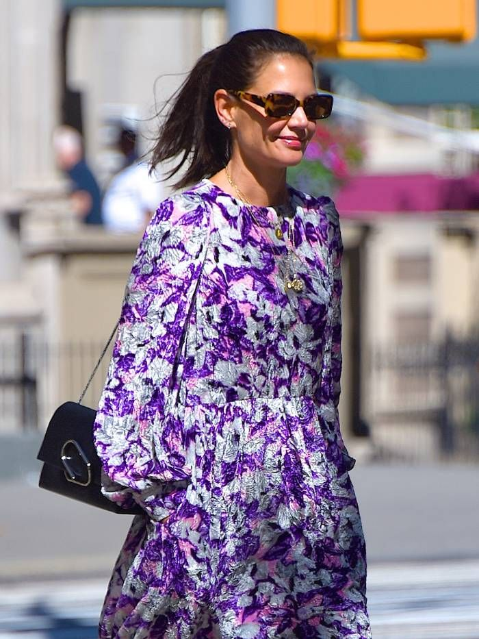 katie holmes high street picks: wearing mango sunglasses