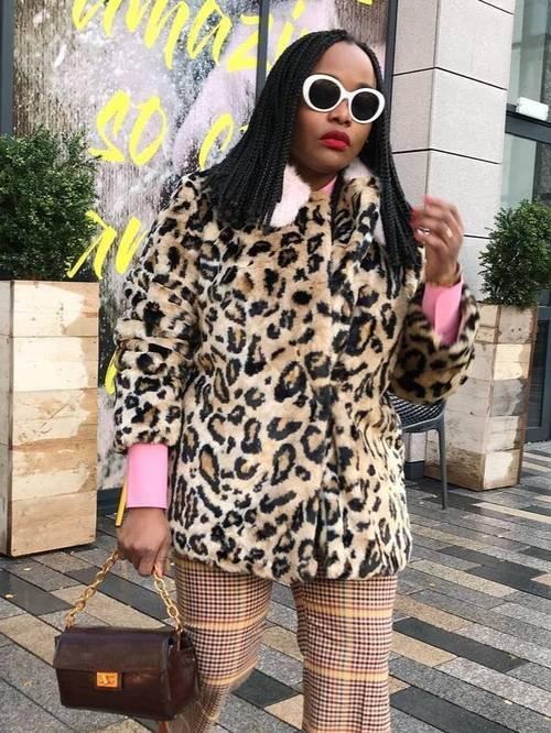 Best leopard print jackets: Ada Oguntodu