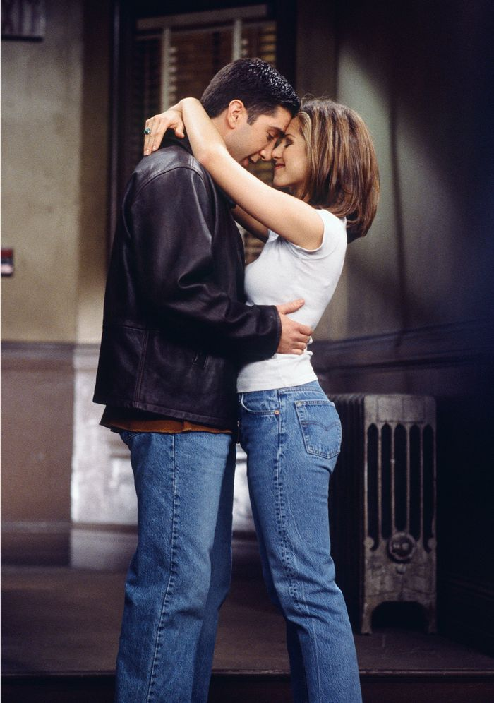 Ross Geller and Rachel Green Kissing Moment on Friends