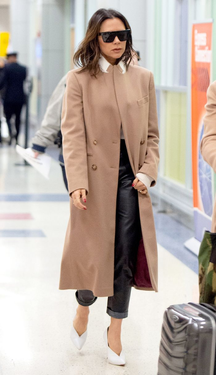 Victoria Beckham Women Over 40 Airport Style