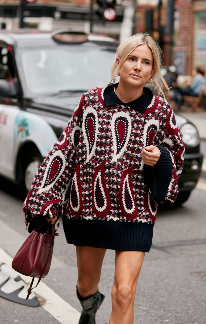 Fashion month outfit ideas: Jumper dress and boots