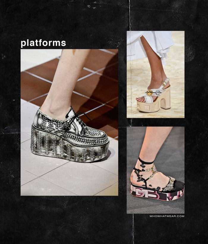 Spring, Summer Shoe Trends 2020: platforms