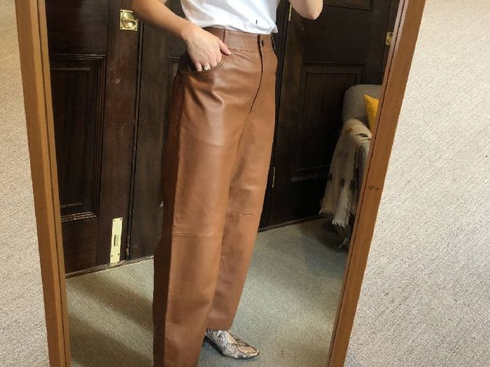 I Just Tried On So Many High Street Leather Trousers—and These Are the Best