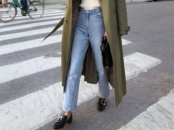 jeans with flats