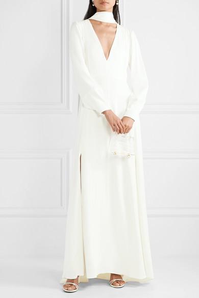 Les Héroïnes by Vanessa Cocchiaro The Ada Smocked Satin Gown