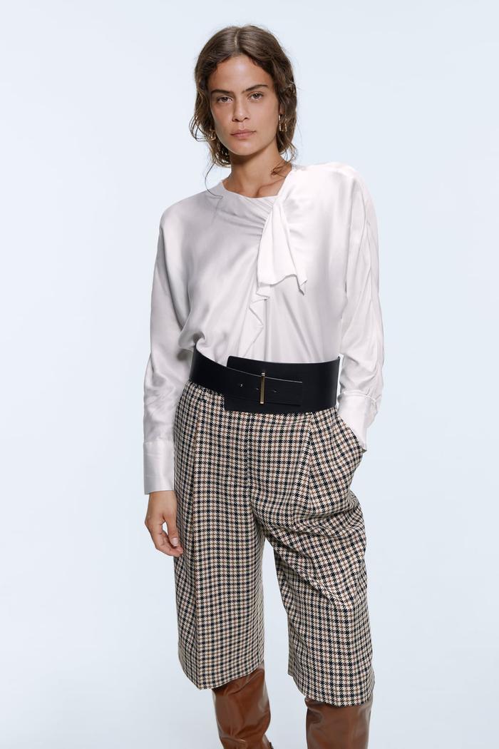 Zara Houndstooth Shorts