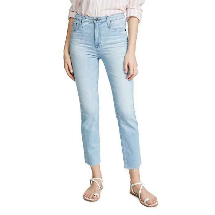AG The Isabelle High-Rise Straight-Leg Jeans