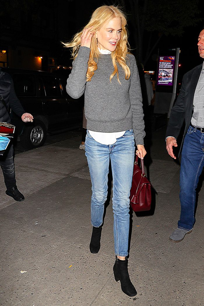 Nicole Kidman jeans and ankle boots