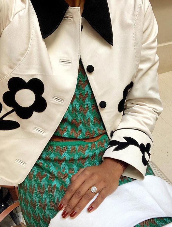 Best Diamond Rings: @monikh wears her diamond engagement ring