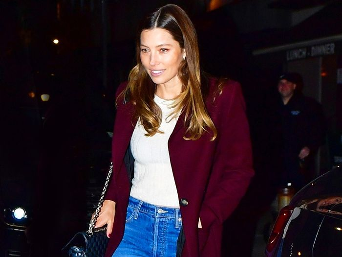 How to Wear White Sneakers When It Isn't Summer: A Lesson From Jessica Biel