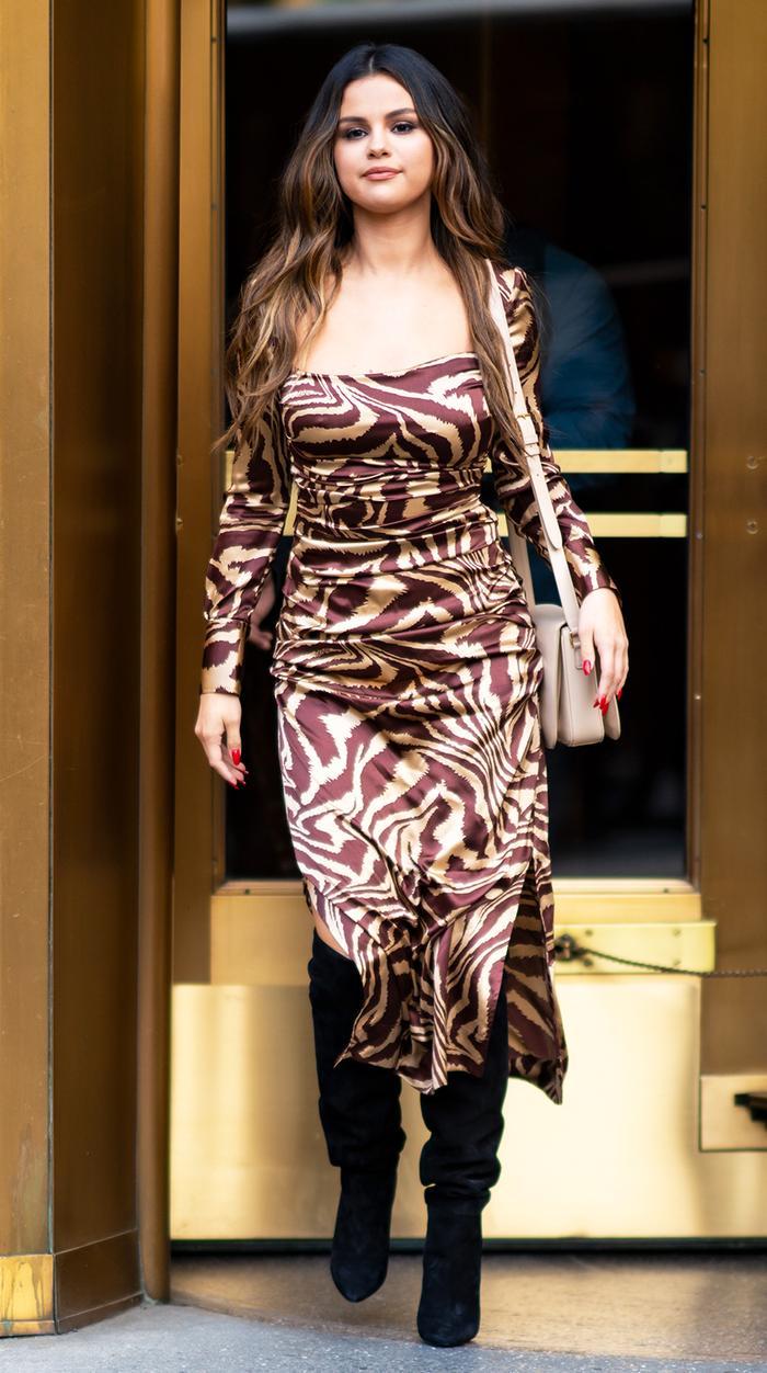 Selena Gomez Ganni Dress