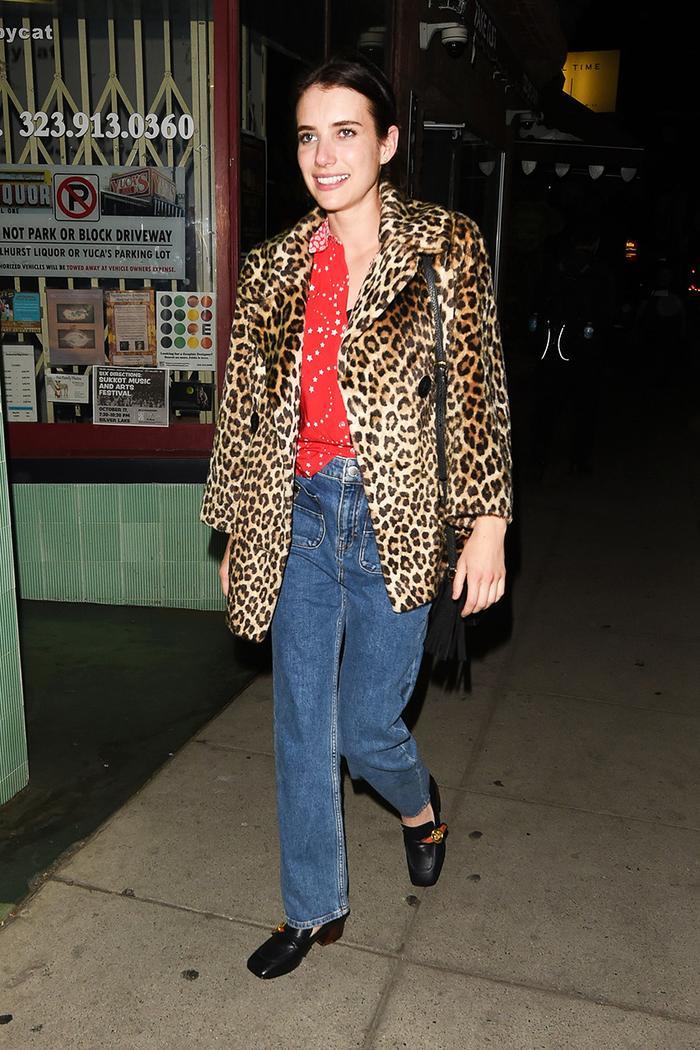 Emma Roberts Maje jeans