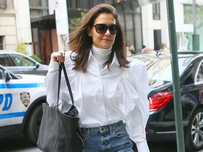 Katie Holmes Just Made Us Question Why We Ever Paused This Denim Trend