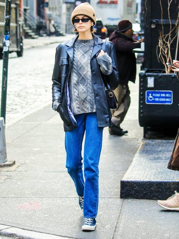Celebs in Knitwear: Kaia Gerber