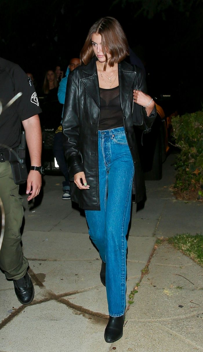 Celebrities in Jeans - Kaia Gerber