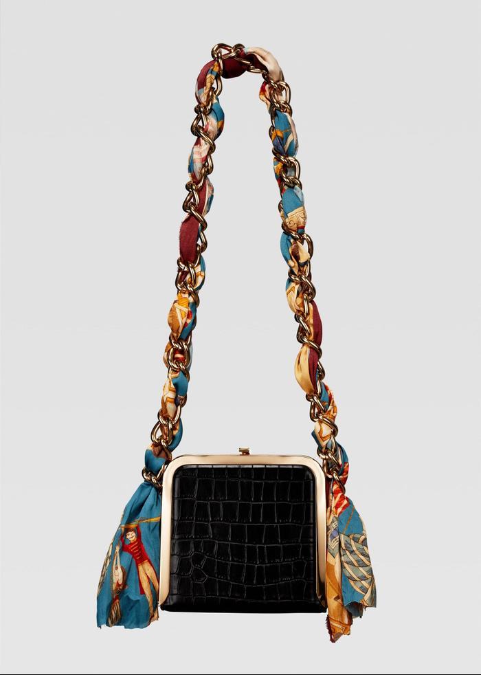 Cotton Long Handle Sling Bag I Love My Grandma